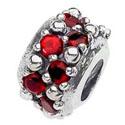 Beads in argento e zirconi